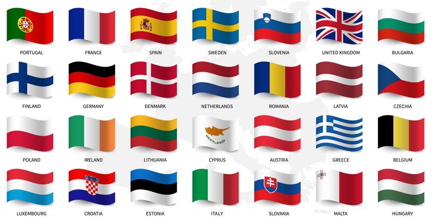Vlaggen landen Europa