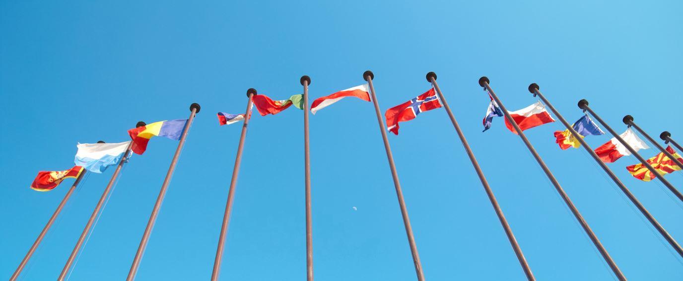 europese vlaggen mast